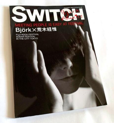BJORK ARAKI NOBUYOSHI SWITCH JAPAN MAGAZINE Oct-2003
