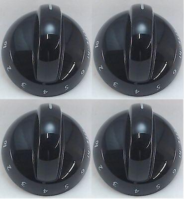 Top Burner Knob, 4 Pack, for Frigidaire, Tappan, AP4322122, PS1991531, 316220009