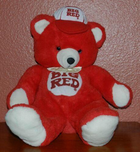 "Vintage ""Big Red"" Soda Brand Plush 22"" Teddy Bear Russ Berrie & Co Great Shape"