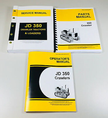 Service Parts Operators Manual Set For John Deere 350 Crawler Tractor Loader
