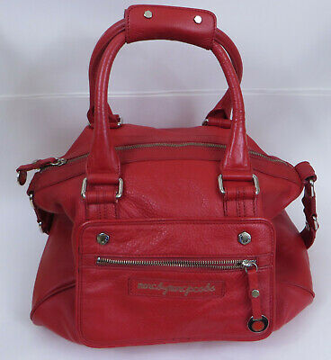 Marc by Marc Jacobs Red Pebbled Leather Handbag Large