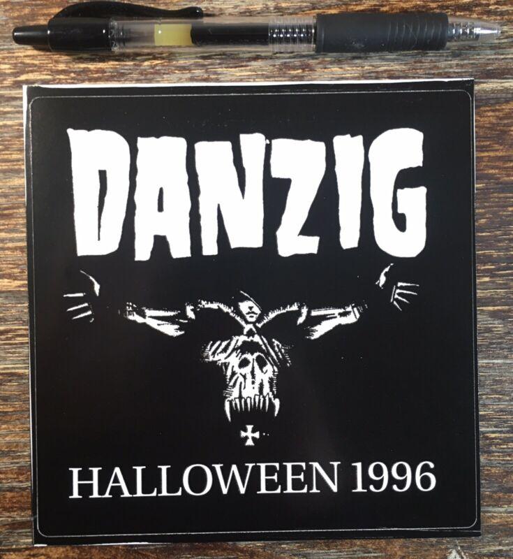 """DANZIG HALLOWEEN 1996 STICKER (5 1/4"""" Xx 5 1/4"""") GLENN DANZIG MISFITS"""