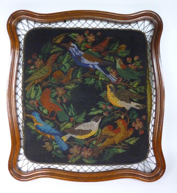 XL Picture Beadwork France Um 1860 Beadwork Gobelin Tapestry