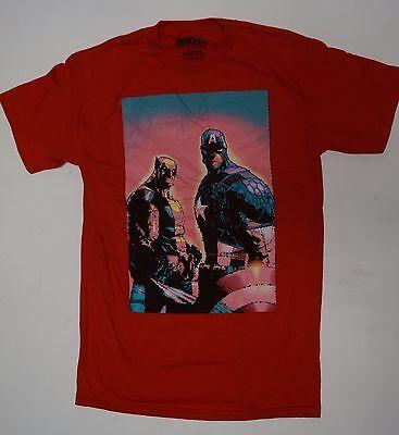 Captain America C (Marvel Captain America wolverine battle fight Avengers X-MEN Red Small Medium)