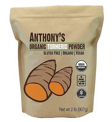 Organic Turmeric Root Powder  2Lb  By Anthonys Gluten Free   Non Gmo  32 Oun