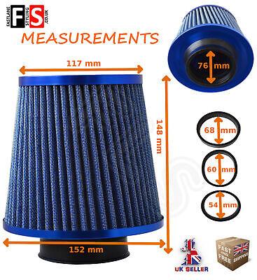 UNIVERSAL PERFORMANCE BLUE AIR FILTER INDUCTION KIT INTAKE UN1102B  FRD2