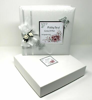 Personalized Wedding Albums (  Wedding Day Photo Album Boxed Personalised Limited Edition   Cellini Albums)