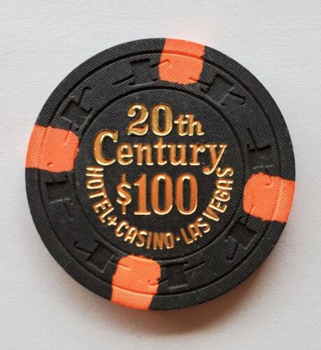 $100 Las Vegas 20th Century Hotel & Casino Chip - Near Mint