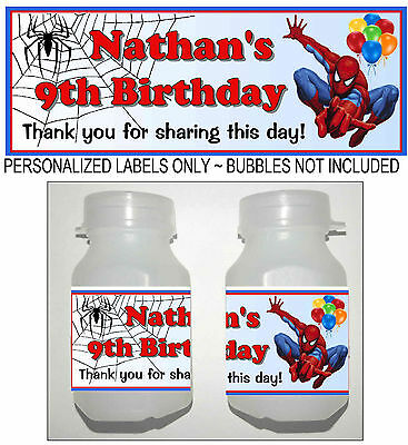 Spiderman Birthday Favors (30 SPIDERMAN BIRTHDAY PARTY FAVORS BUBBLE)