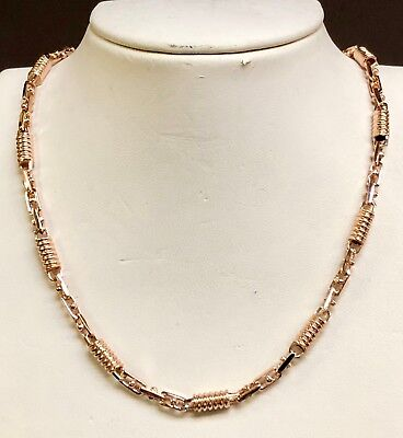 "18kt ROSE Gold Handmade Fashion Mens Chain/Necklace  28""  5MM  80 grams"