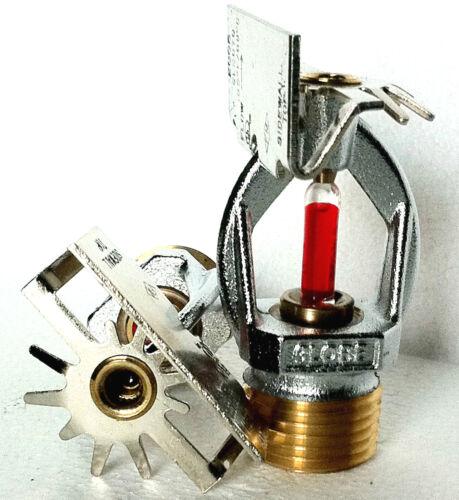 "1/2"" NPT 155*F Chrome Horizontal Sidewall Fire Sprinkler Head Globe GL5670, 5.6K"