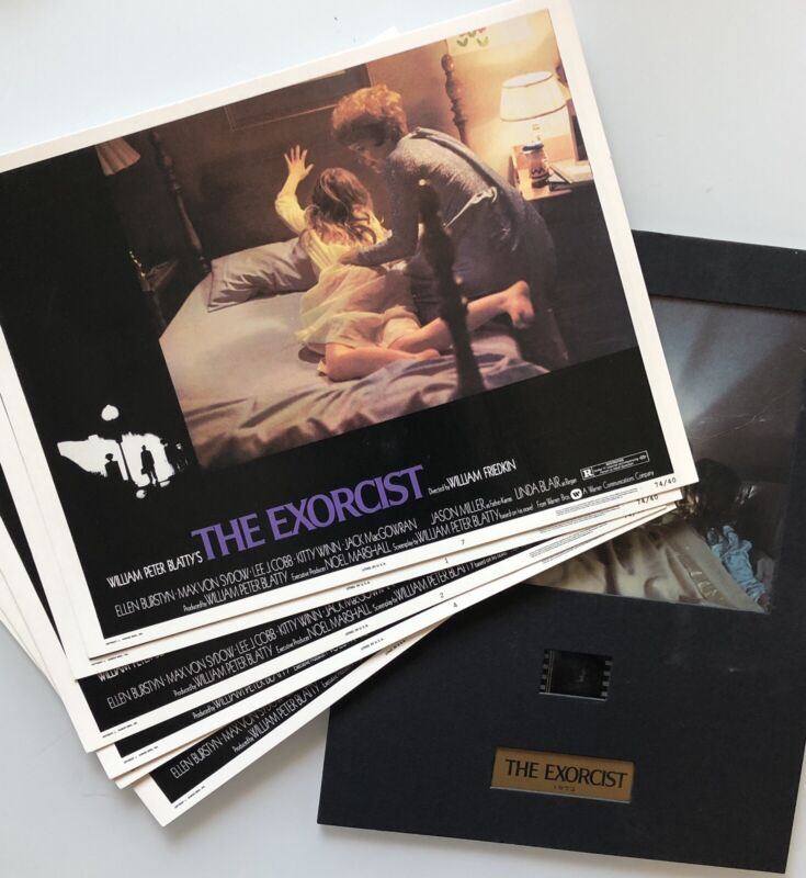 The Exorcist 1973 Lobby Card Set And Free Film Cel Card