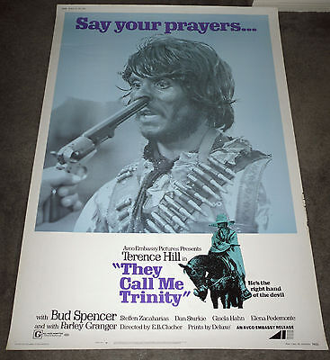 They Call Me Trinity Original Large 1971 Rolled 40X60 Movie Poster Terence Hill