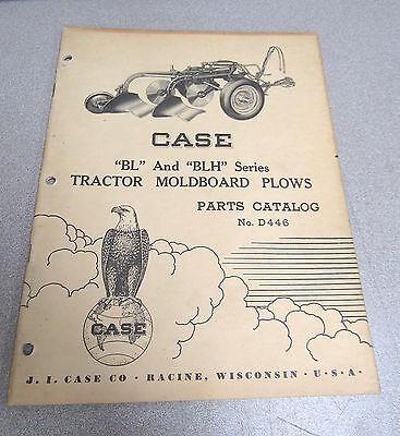 Case Bl Blh Seies Moldboard Tractor Plow Parts Catalog Manual D446