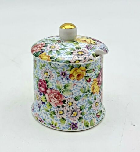 Chintz JAM JAR, Eberling and Reuss, Made in England