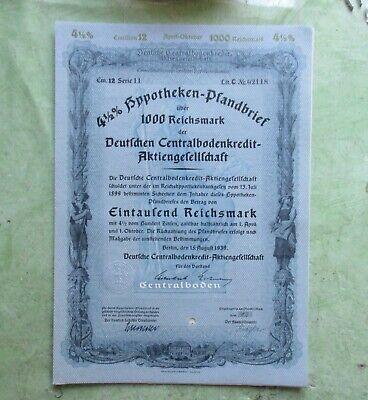 Reichen Boden (Pfandbrief, Deutsche Centralbodenkredit-AG, 1000 Reichsmark (1939))