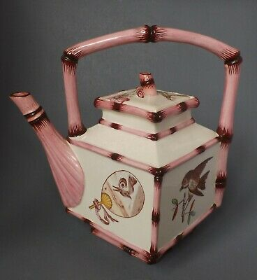 Good Antique Victorian Pottery Japonesque Aesthetic Movement Tea Kettle/Teapot