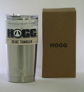 HOGG 20 OZ Tumbler Stainless Steel Rambler - Best Hot Cold Drink Travel Cup Mug