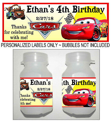 Disney Cars Birthday Party (30 DISNEY CARS MCQUEEN BIRTHDAY PARTY FAVORS BUBBLE)