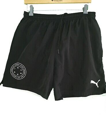 PUMA BLACK ' HACKNEY FOOTBALL SHORTS - Size Large