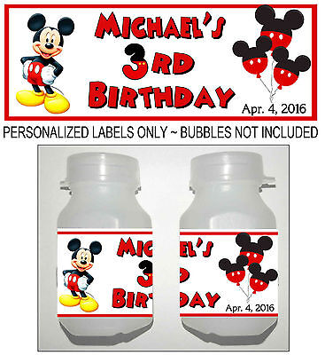 30 MICKEY MOUSE BIRTHDAY PARTY FAVORS BUBBLE - Mickey Mouse Birthday Favors