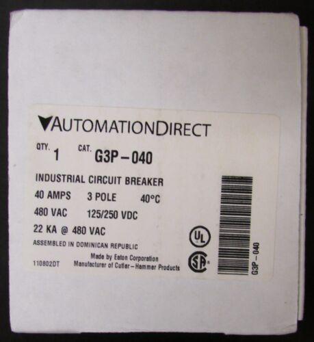 AUTOMATION DIRECT EATON G3P-040 Type G3P 22K Circuit Breaker 3Pole 40Amp G3P-040