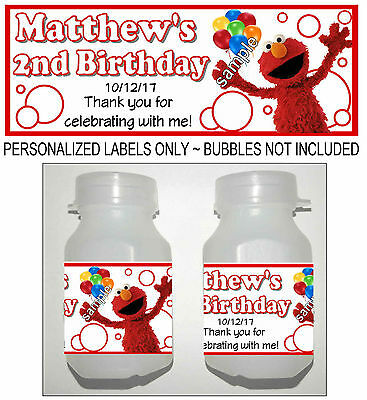 30 SESAME STREET ELMO BIRTHDAY PARTY FAVORS BUBBLE LABELS](Sesame Street Birthday Party Favors)