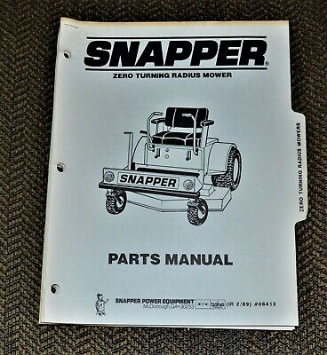 1989 Snapper Tractor Manual 06413 Zero Turning Radius Mower for sale  Shipping to Canada