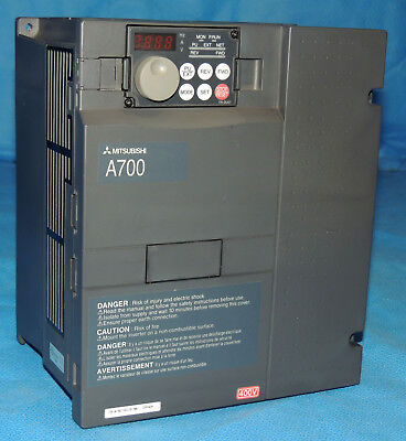 Mitsubishi A700 Vfd Variable Frequency Drive Fr-a740-00120-na Inverter 7.5-hp
