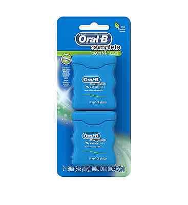 Oral-B Satin Floss Dental Floss Mint 110 Yards, Twin Pack