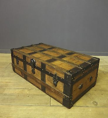 Victorian Travel Trunk, Chest, Coffee table, Vintage