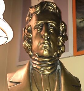 Antique CHOPIN Life Size BUST Statue PIANO Art Classical Music