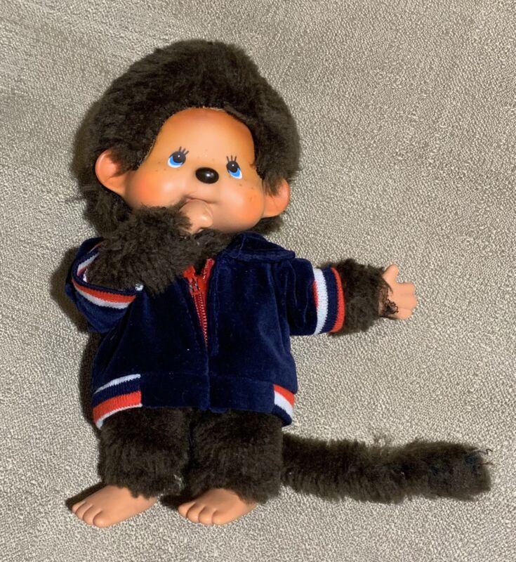 Monchhichi Jacket Plush Doll Size 20cm Vintage Item Collector Rare Sekiguchi