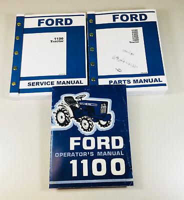 Ford 1100 Tractor Service Operators Parts Manual Set Repair Shop Book Ovhl
