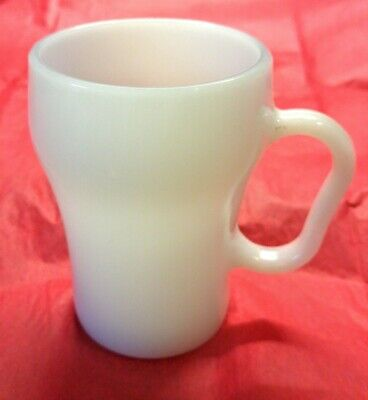 Vintage Anchor Hocking/Fire King White Milk Glass Cola/Soda Fountain Mug Cup Anchor Hocking Fire King Milk