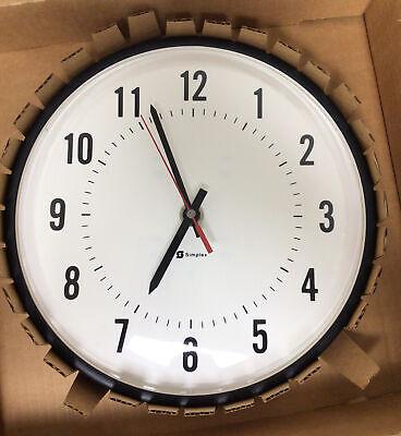 """Vintage Simplex Dome Industrial School Wall Clock 13"""""""