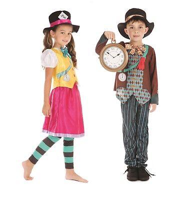 Kinder Verrückter Hutmacher Junge Mädchen Alice Im Wunderland - Junge Alice Im Wunderland Kostüm