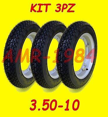 KIT 3 GOMME  APE 50 TUTTI  RUOTE MONTATE E GONFIATE + CERCHI + CAMERA 991200001