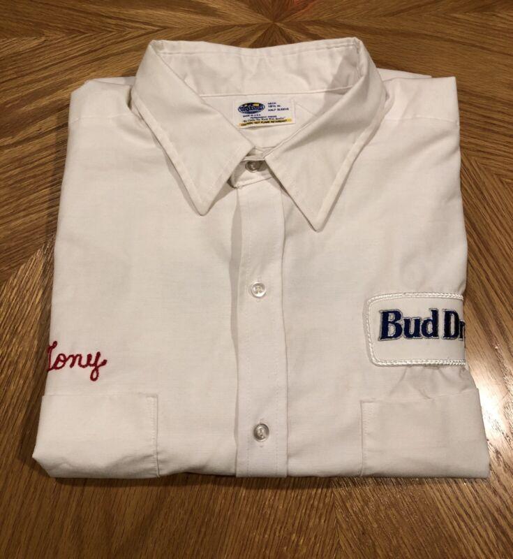 Vintage Budweiser Bud Dry Work Shirt - Delivery Uniform - Size XXL