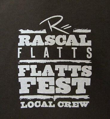 RASCAL FLATTS – FLATTS FEST TOUR - LOCAL CREW T-SHIRT –SIZE 2X – ONE SIDED
