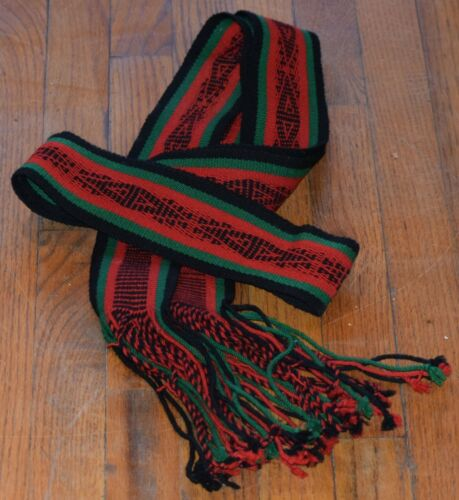 TIGHT WEAVE TRADITIONAL SASH BELT/ BLACK,GREEN,RED FREE SHIPPING