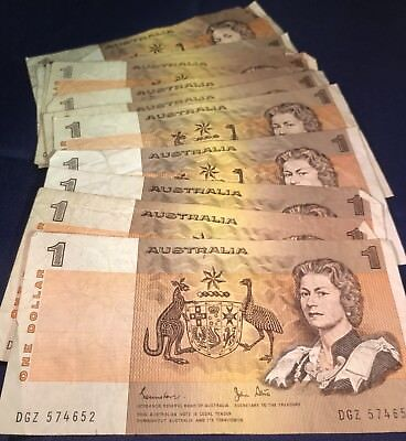 For sale Australian Paper $1 Note Circulated Condition.