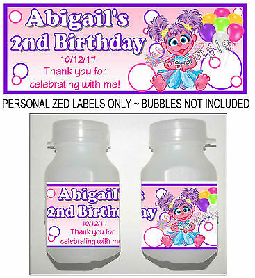 30 ABBY CADABBY BIRTHDAY PARTY FAVORS BUBBLE -