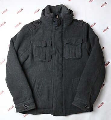 Abercrombie and Fitch Jacket Adult Large Charcoal Utility Coat