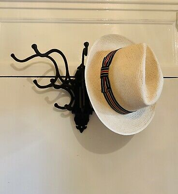 Large Gothic Wrought/Cast Iron folding spider hat and coat rack