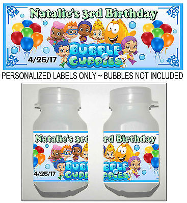 30 BUBBLE GUPPIES BIRTHDAY PARTY FAVORS BUBBLE LABELS](Bubble Guppies Birthday)