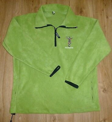 HARLEQUINS RUGBY-Players Style-NEW-FLEECE-Embroidered-KELLY GREEN-MEDIUM