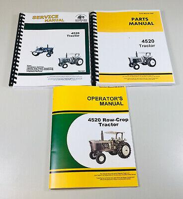 Service Parts Operators Manual Set For John Deere 4520 Tractor Shop Book
