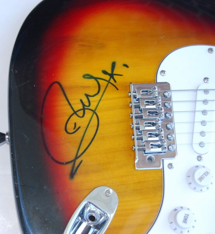 OLLY MURS signed (ELECTRIC GUITAR) *DANCE WITH ME TONIGHT* W/COA
