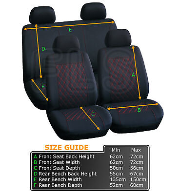 AUSTIN CAR SEAT SAFETY COVERS PROTECTOR WASHABLE DOG PET FULL SET FRONT REAR
